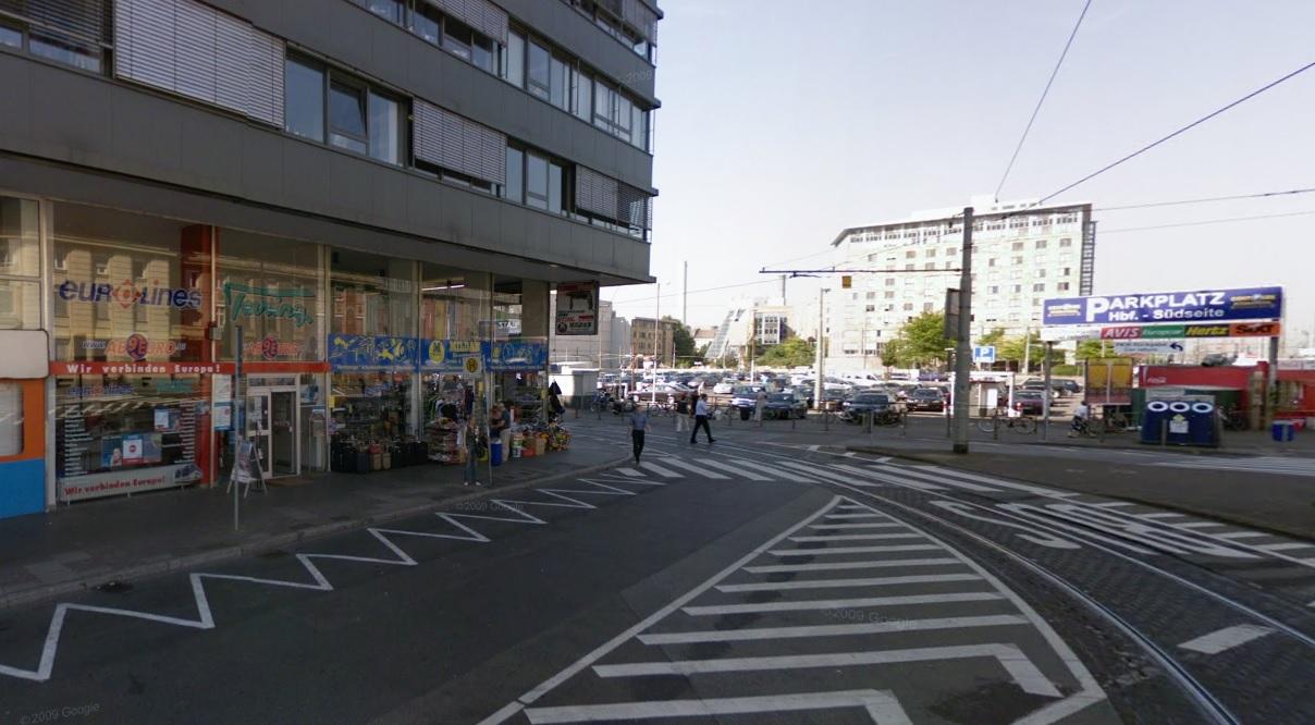 Автобусен офис във Франкфурт