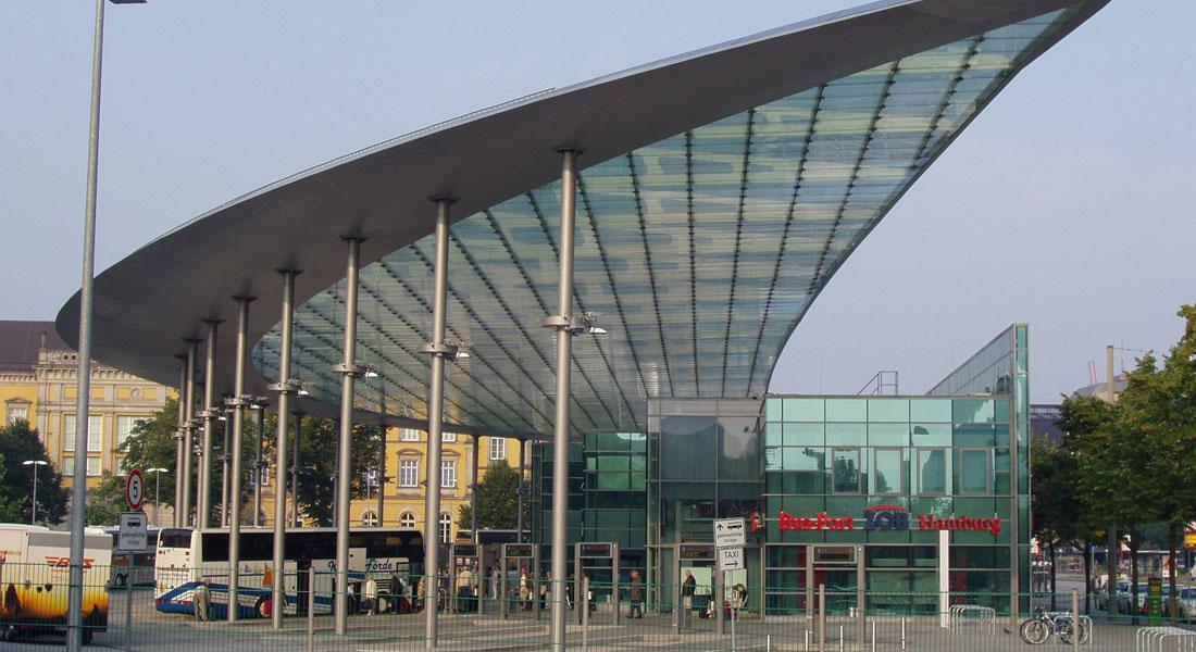 Автобусна спирка в Хамбург