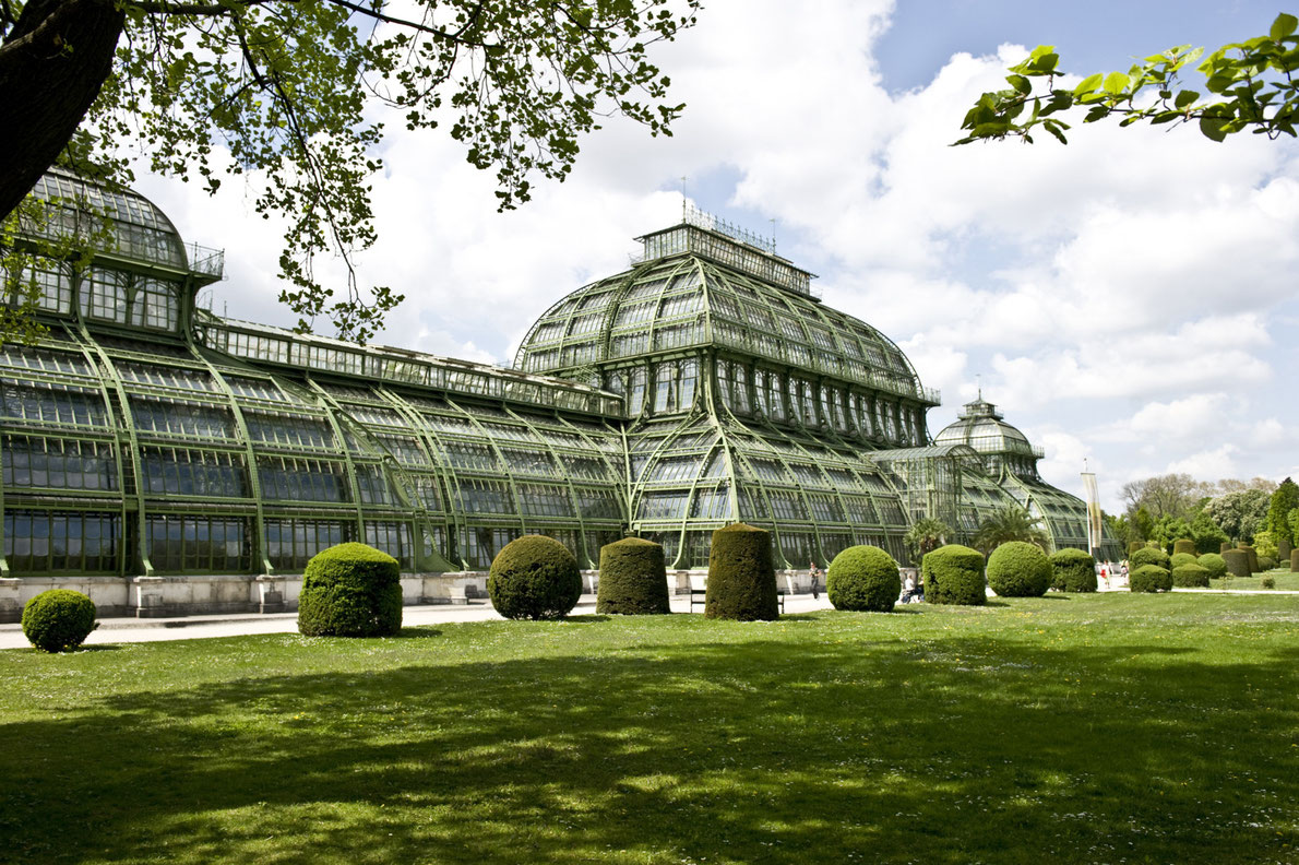 green house in botanical garden