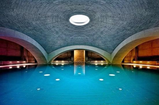 futuristic spa pool inside